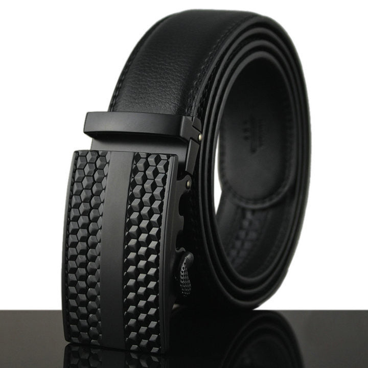 Genuine Leather Automatic Buckle Formal Belt