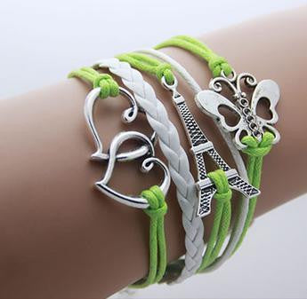 Leather Infinity Bracelets - Paris