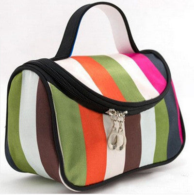Travel Organiser Toiletry Cosmetic Bag - Techni Colour