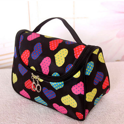 Travel Organiser Toiletry Cosmetic Bag - Love