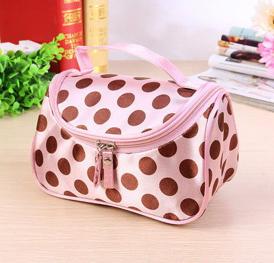 Travel Organiser Toiletry Cosmetic Bag - Light Pink