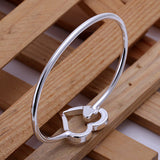 Double Heart Bangle
