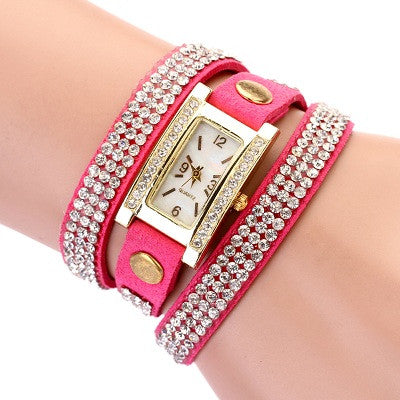 Ladies Rhinestone Band Watch
