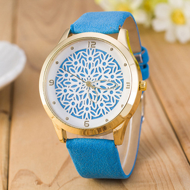 Ladies Flower Watch - Blue