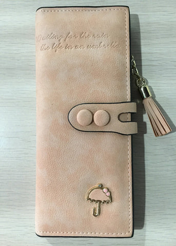 Ladies MultiFunctional Casual Wallets - Apricot