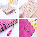 Ladies MultiFunctional Casual Wallets - Pink