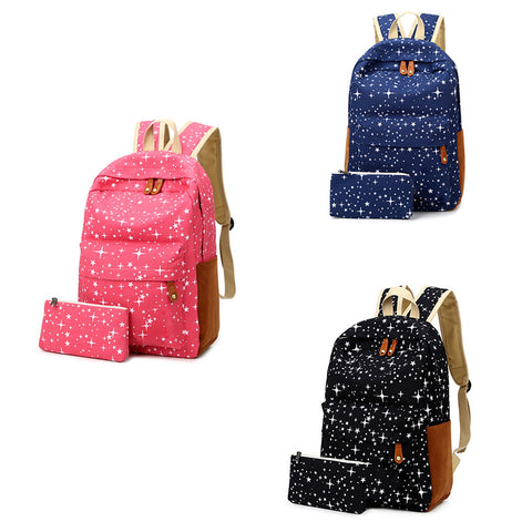 Ladies Canvas Satchel Rucksack with FREE Pouch