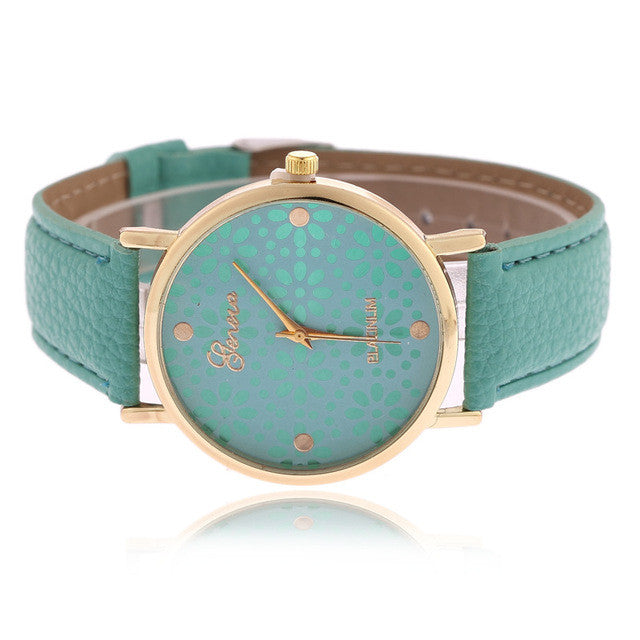 Ladies Watch - Flower Pot - Green