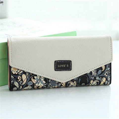 Ladies Flower Envelope Wallets - 5 Colours