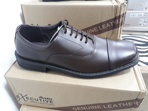 Bata  Executive Formal Lace Up - Genuine Leather Upper  - Brown
