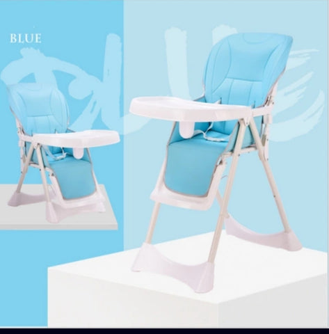 Adjustable, Folding Baby Feeding Chair - Blue