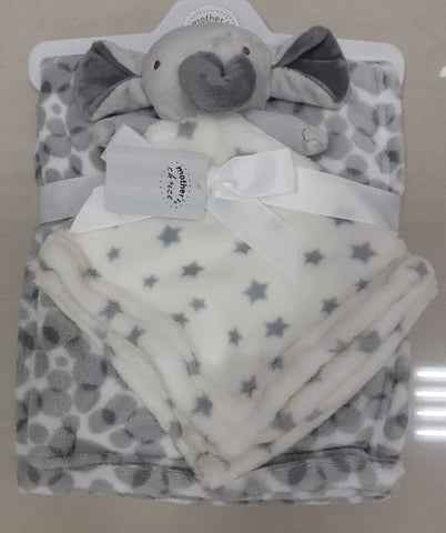 Baby Dudu Blanket Grey/White Rabbit