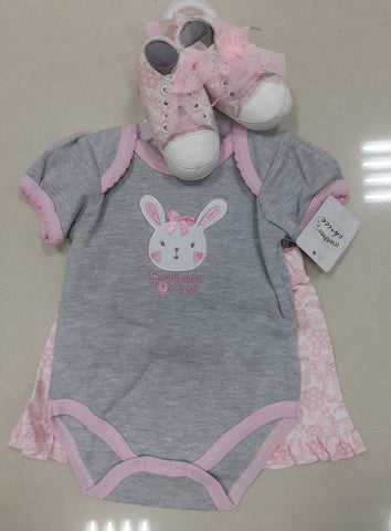 GIRL'S 3PC SETS 'SOMEBUNNY LOVES ME'