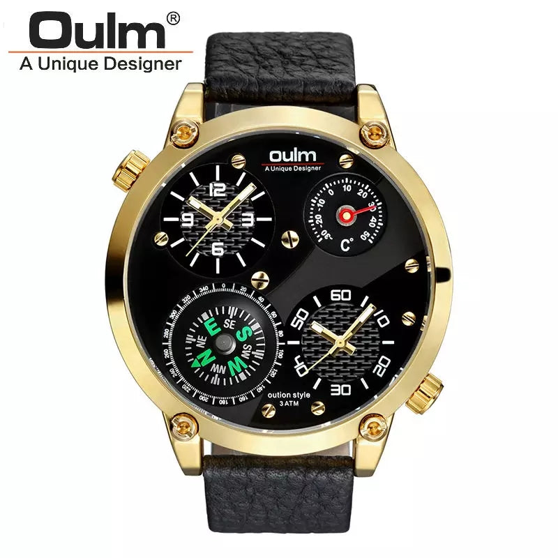 Men's Military Watch - Gold