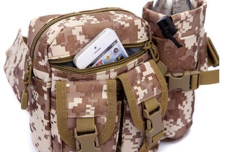 Tactical Military Waist Belt Pack Sport Camping Hiking Shoulder Hand Pouch Bag