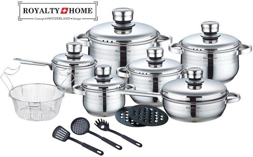 Royalty Line (18 pcs finest grade material) Stainless Steel Cookware Royalty Line ( Switzerland )