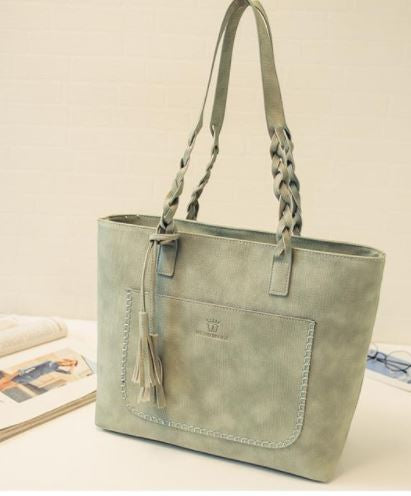 Ladies Vantage Cross Strap Handbag - Green