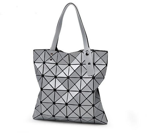 Ladies Retro Shoulder Handbag -Silver