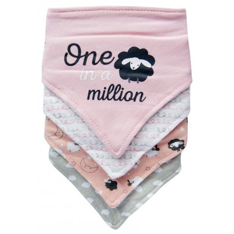 Bandana Bibs - 4 pc  One in a million - Pink