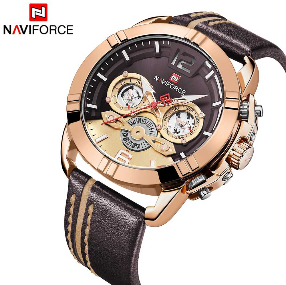 Men's Naviforce Watch (9168)- Gold