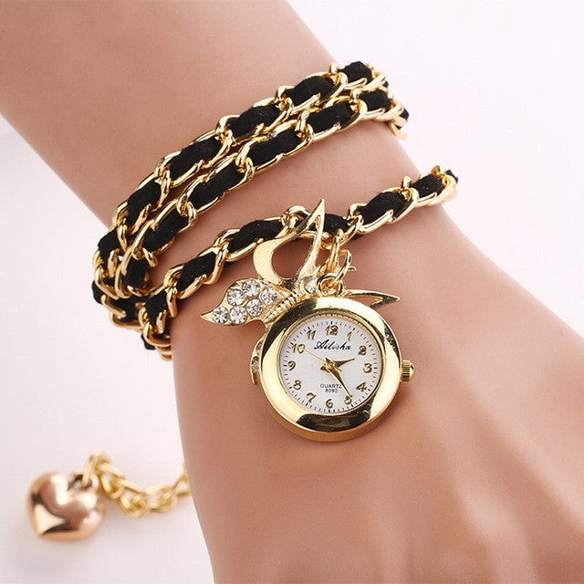 Ladies Butterfly Pendant Watch