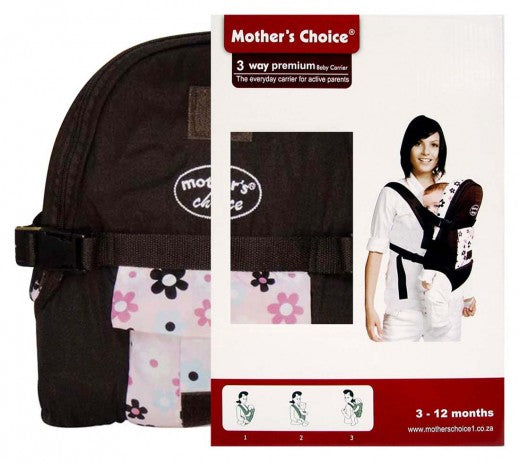3 Position Baby Carrier - Designed for 3 -12 Months Old - Flowers