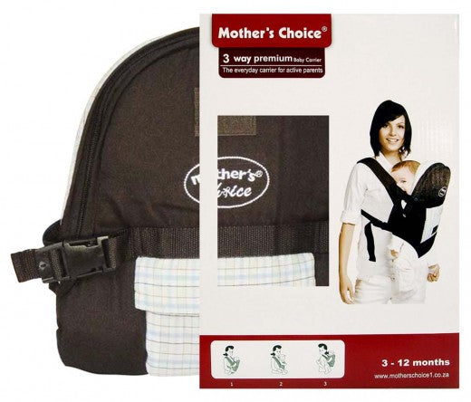 3 Position Baby Carrier - Designed for 3 -12 Months Old - Checked