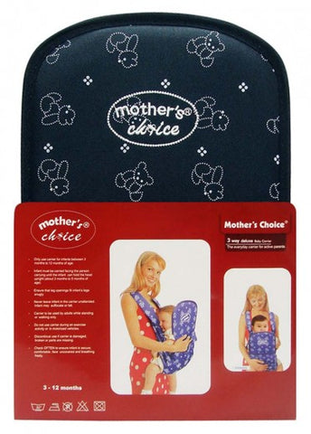 Deluxe 3 Position Baby Carrier - Designed for 3 -12 Months Old - Navy Bear