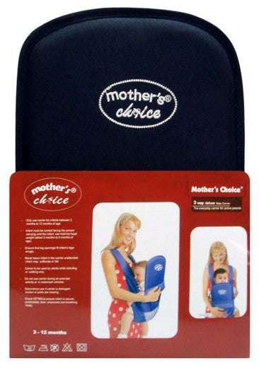 Deluxe 3 Position Baby Carrier - Designed for 3 -12 Months Old - Navy