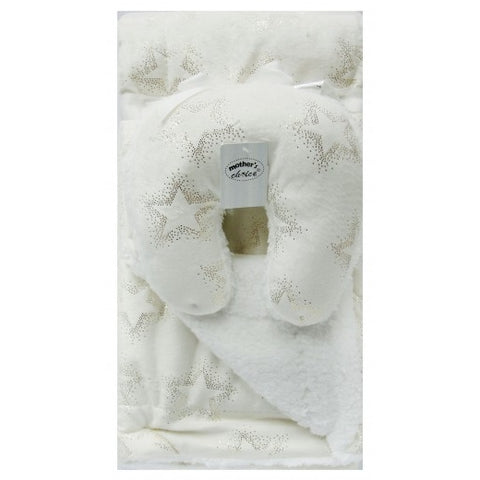 INFANTS BLANKET AND TRAVEL PILLOW - BEIGE