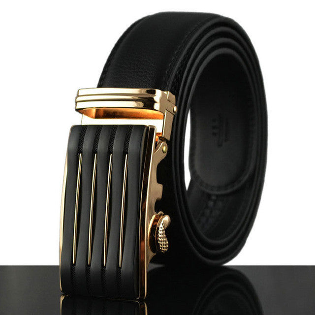Leather Automatic Buckle Formal Belt