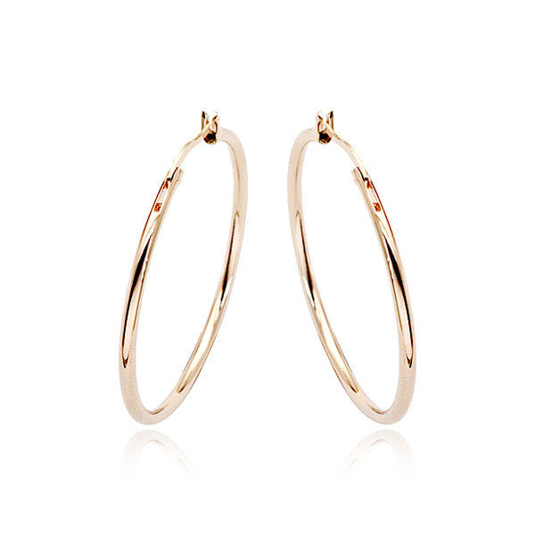 Big Circle Classic Hoop Earrings - 3.8cm