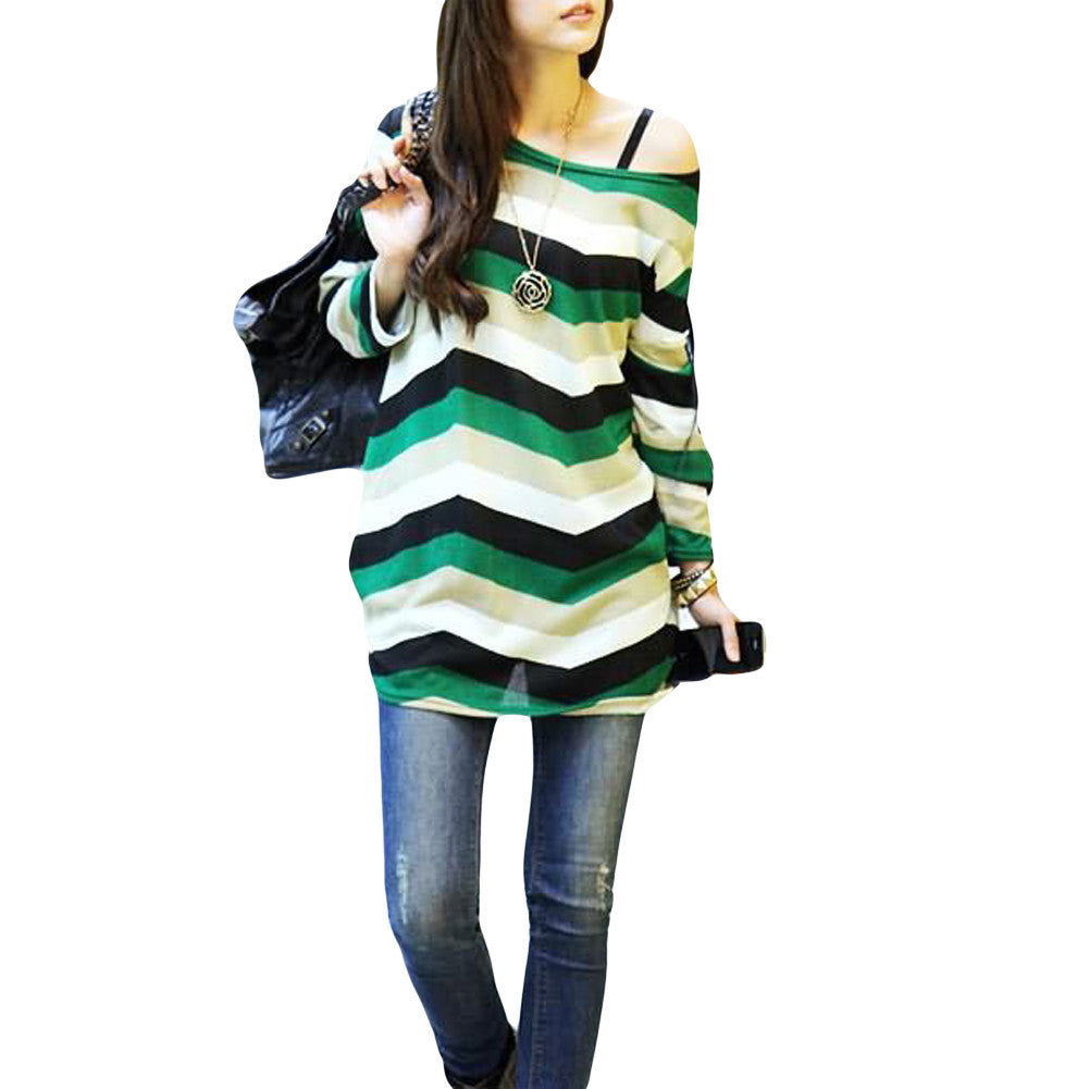 Retro Knitted Pull Over - One Size - Striped Apple