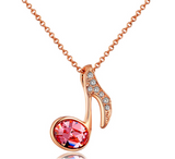Rose Gold Plated Music Pendent Necklace