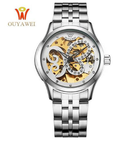 Ladies Butterfly Mechanical Watch