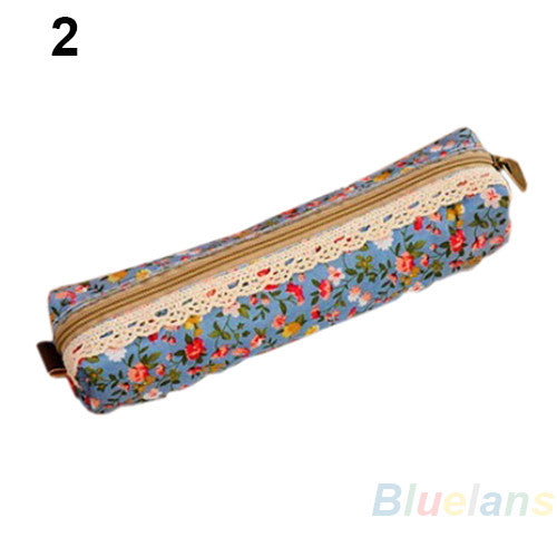 Retro Floral Cosmetic Pouch
