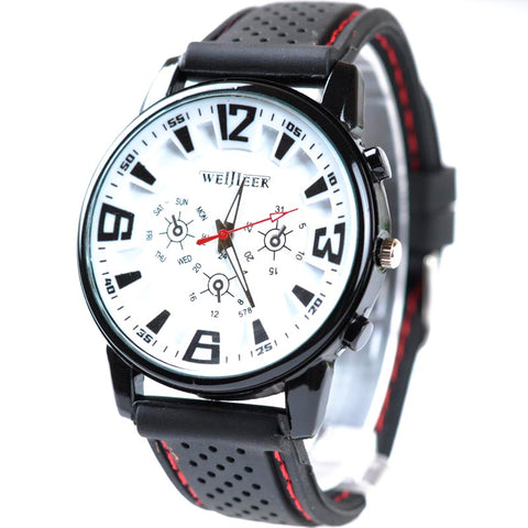 Men's Sports WristWatch - Silicone Band
