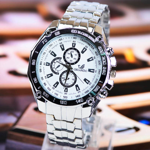 Men's Sports WristWatch - Stainless Steel