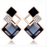 Crystal Diamond Shaped Vintage Earing