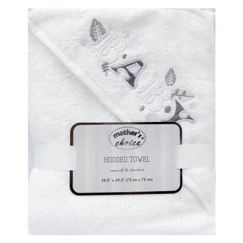 100% COTTON HOODED TOWEL 'BABY-NEUTRAL'