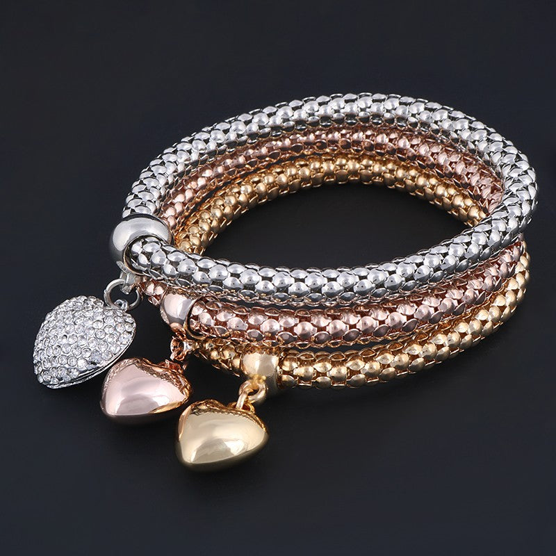 Heart 3 layer Bracelets