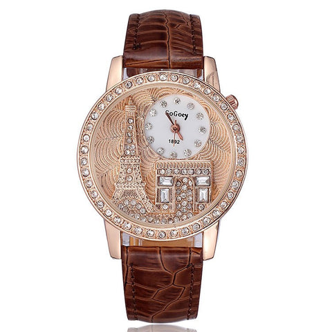 Ladies Eiffel Tower Watch - Brown