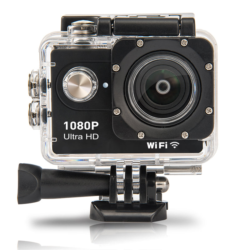 "2.0"" HD Action Camera 1080P 30FPS 12MP WIFI - Black or Silver (FREE Courier Delivery)"