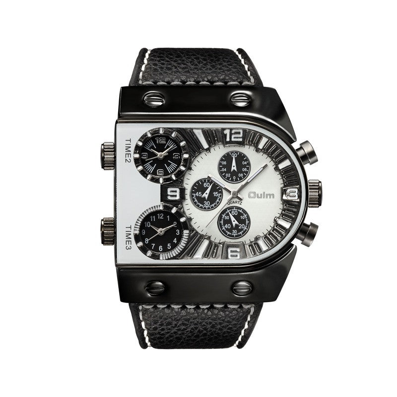 Men's Military Watch - 3 Time Zones