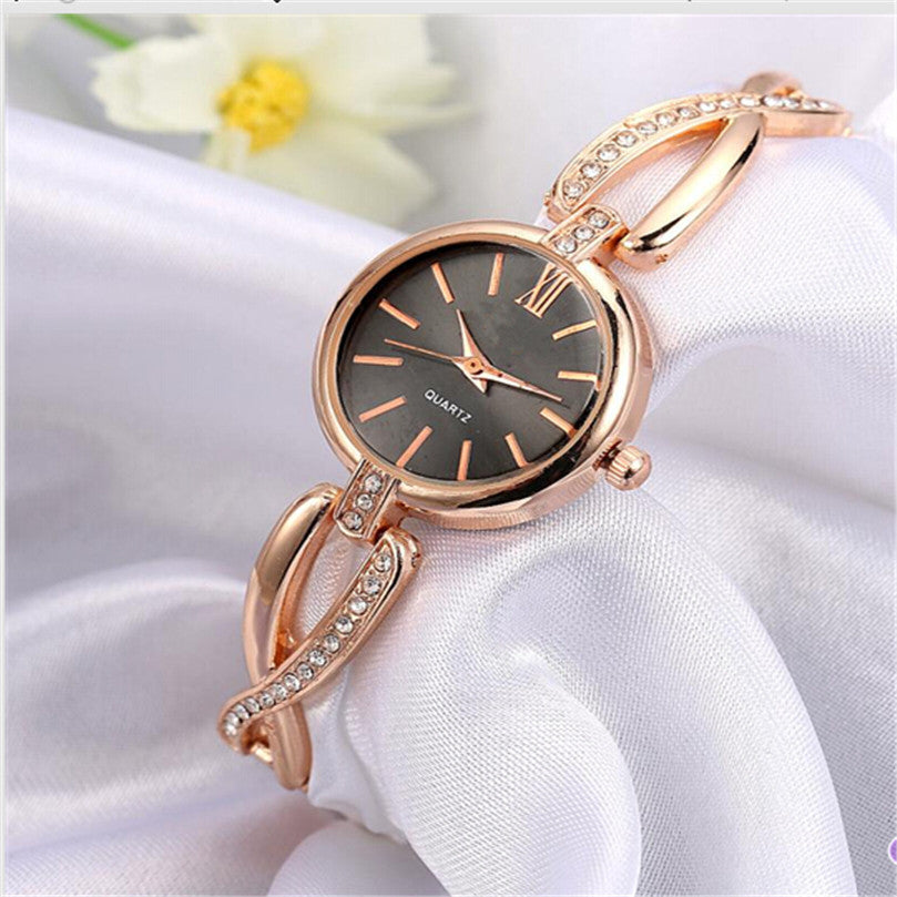 Ladies Crystal Rhinestone Dress Watch