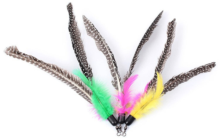 5pcs Colorful Cat Toy Feather Replacement For Cat Wand 20cm (without stick)