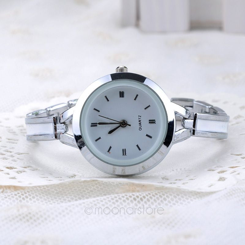 Ladies Analog Bracelet Watch - Silver