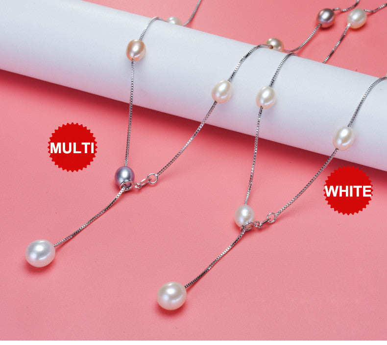 925 Sterling Silver Natural Pearl Choker | Necklace