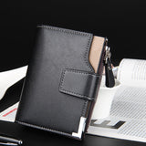 Men's Multifunctional Business Casual Wallet - Black or Brown