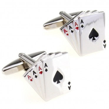 Aces Cuff Links